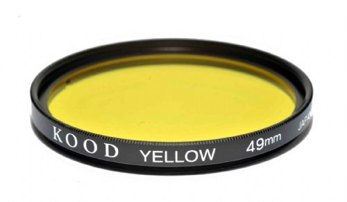 Kood High Quality Optical Glass Yellow Filter Made in Japan 49mm